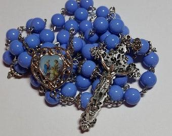 Lilac Holy Family Rosary // Purple Rosary