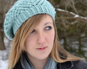 Hat Knitting PATTERN PDF, Knitted Beret Pattern, Slouch Hat Knitting Pattern - Frostbitten