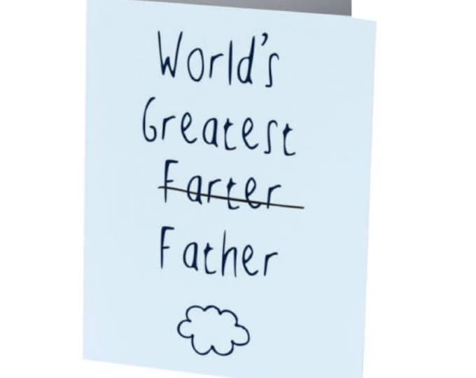 Featured listing image: WORLDS GREATEST FARTER | Father's Day Card