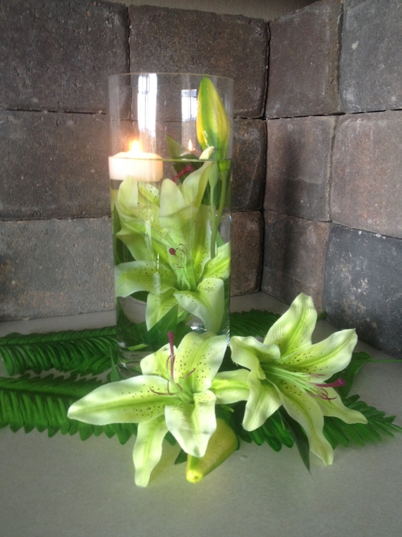 Items similar to submersible silk flowers 2 light green tiger lily items similar to submersible silk flowers 2 light green tiger lily silk flowers for diy submerged centerpiece light green tiger lily silk flower heads on mightylinksfo