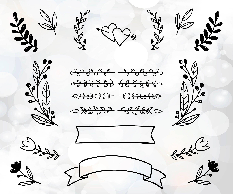 Wedding DIY invitation clipart wedding invitation files for