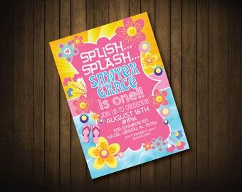 Splash Birthday Party Invitation
