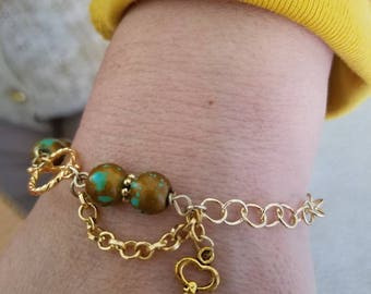 Blue Bird Handmade Beaded Necklace/ Bracelet Set