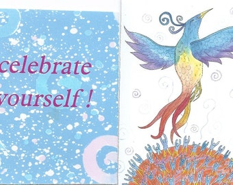 Celebrate Yourself mini affirmation cards