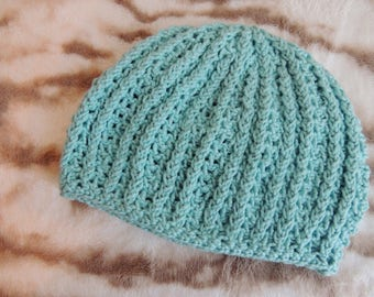 100% Cotton Ribbed Beanie