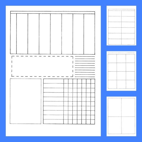 Bullet Journal Style Printable Planner, Teacher Lesson Plans, Homeschool  Planner For Multiple Children, Hand Drawn Printable Inserts