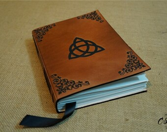 A5, Leather Journal, Triquetra, Celtic, Sketchbook, Unique Handmade, Custom Leather Journal, Personalized Journal, Notebook, Diary, Gift,