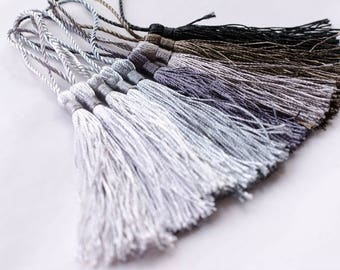 10pcs/ 30pcs 13cm Tassel, Tassel earring, Decoration,  Mix Black and Grey