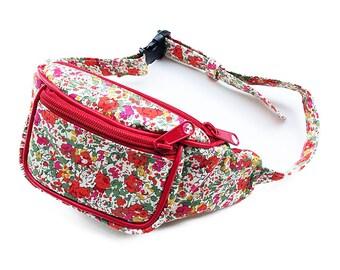 Kids waist bag  LIBERTY of London Clair Aude (Red)