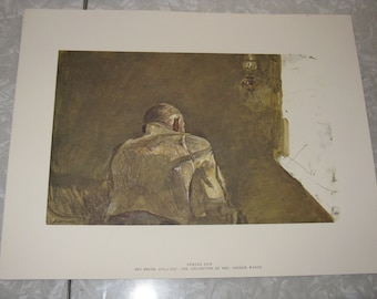 Set of 3 vintage reproduction prints Spring Sun, New Leaves, and Storing Up