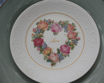 Avon 1987 Love Plate-Bouquet of Love porcelain collectible plate