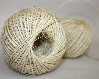 Sisal cord - 1 ball - 2 mm Diameter - Natural Color - Manila Rope - DIY Rope - Weddings - Nautical Rope - Rug DIY