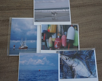 Set of FIVE Nautical Note Cards