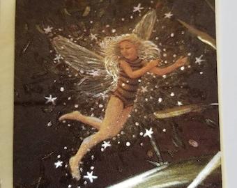 Vtg Fairy Dufex foil Sticker mod fae fairy dust