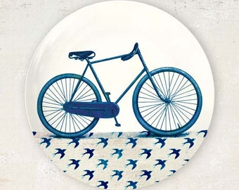 Vintage Blue bike plate