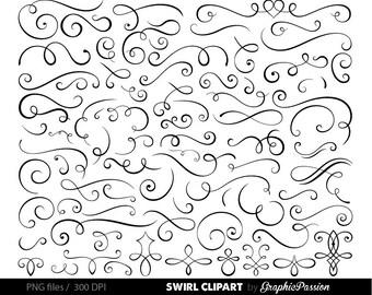 Calligraphy swirl etsy wedding invitation swirls clipart flourish clip art calligraphy graphics swirl clipart clip art stopboris Choice Image