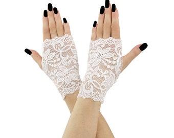 bridal gloves lace gloves wedding gloves fingerless gloves women gloves white mittens short mittens gloves formal gloves lace white 2300