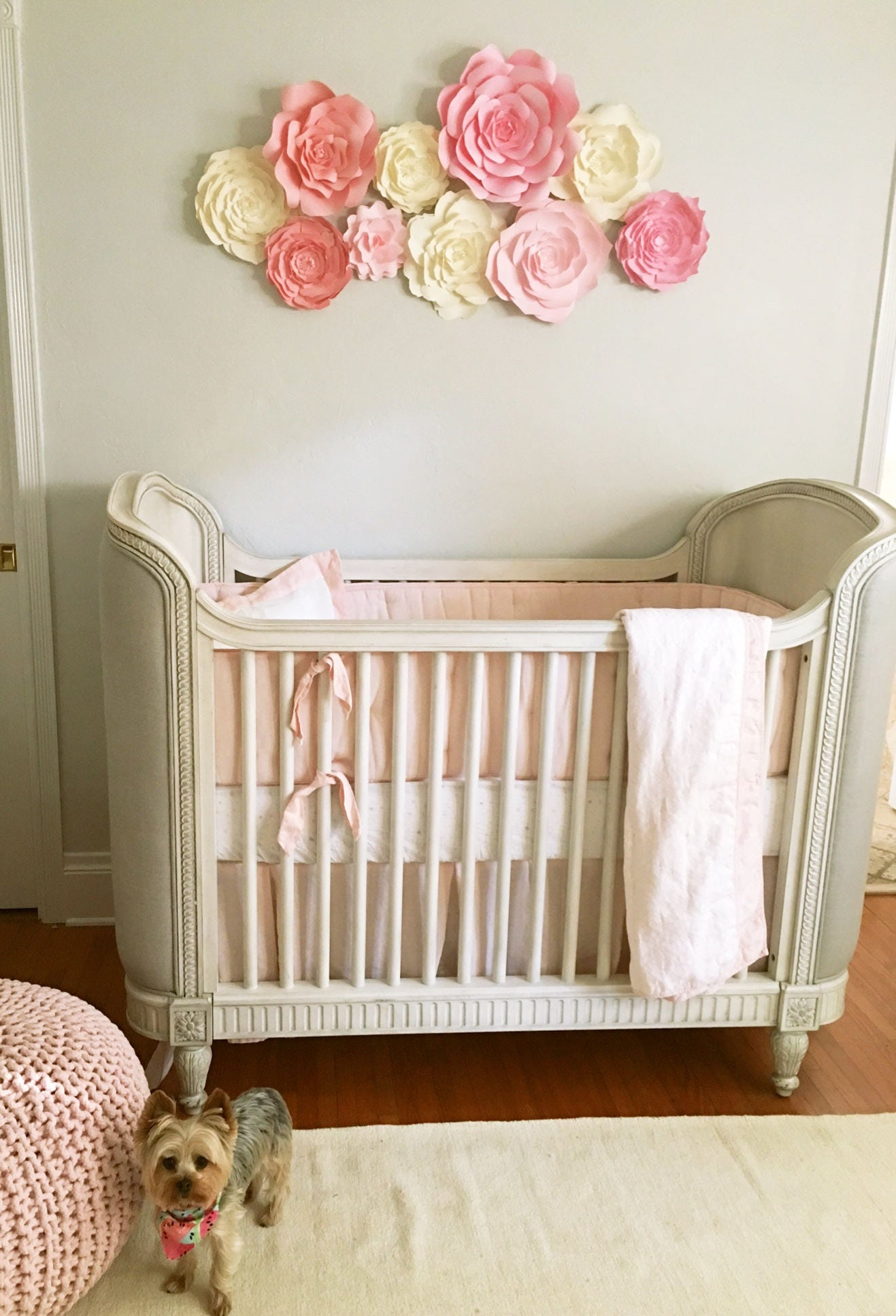 Baby Room Accessories: Baby Nursery Wall Decor Paper Flowers For Girls Nursery