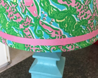 Lilly Pulitzer Lampshade in Chomp Chomp Lamp shade ONLY!!