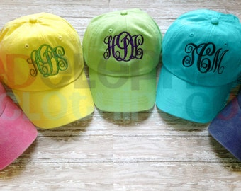 MONOGRAM Baseball Cap for Kids, Monogrammed Baseball Cap, Personalized Baseball Hat for Children, Birthday Gift