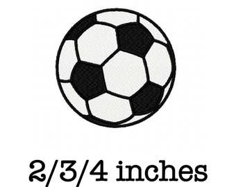 Soccer ball football 2/3/4 inch machine embroidery design instant download