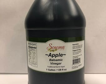 Apple Balsamic Vinegar Traditional Barrel Aged Bulk 1 Gallon -Food service-