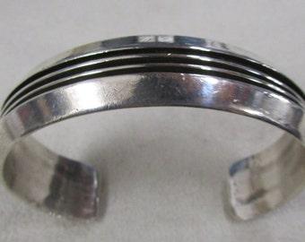 Sterling Silver Navajo Tom Hawk Cuff Bracelet