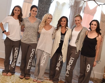 SALE! 15% off -  Personalized Wedding Sweatpants - Bridesmaid Gift - Will You Be My Bridesmaid - sister9designs