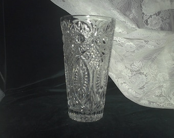 Heavy Cut Glass Vase