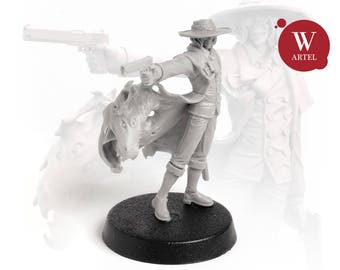 "28mm wargaming and collectible miniature, Gunfigther by ""W"" Artel"