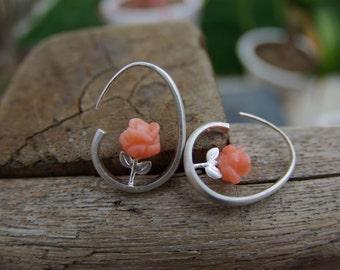 The Pink Rose earrings