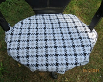 Office Chair Cover, = ready to ship=  Slip Cover, Protection, black, white, gray, plush, fleece, blizzard,