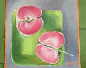 Apples • Pink Apples • Oil Paintings • Original Art • Oil Painting • Daily Painter • Daily Painting