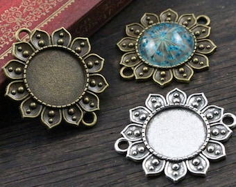 18 MM / 1 cabochon 18 mm flower connector