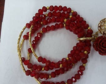 Red bracelet Mex