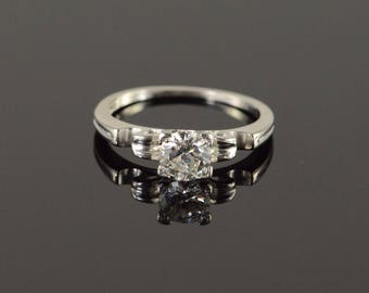 Classic 0.52 CT Diamond Engagement Solitaire Ring Platinum