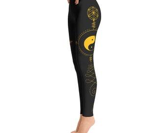 Sacred Geometry Leggings, Geometric leggings, Leggings, Yoga Leggings, Flower leggings, Festival Leggings, Festival Clothing, yoga wear,