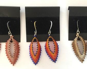 Gradient (ombre) Russian Leaf Earrings