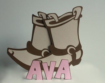 Cowgirl Boots Cake Topper, cowgirl birthday, cowgirl party, cowgirl birthday decorations