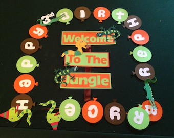 Reptile, Swamp, Birthday Party Banner