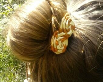 Lauhala rosette flower suade headband-lauhala accessories-boho chic headband-festival headband-hippie headband-hair bun wrap-hair accessorie