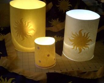 "CUSTOM  ""Floating"" Tea Light Tangled Rapunzel Lanterns"