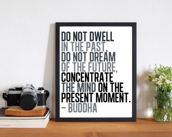 Printable Quotes, Wall Art Print, Peaceful Quote by Buddha for Home or Office. Printable Buddha Quote for Instant Download