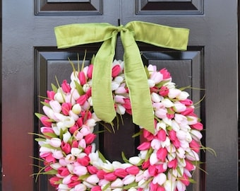 SPRING WREATH SALE Mother's Day Gift- Mother's Day Wreath- Gift for Her- Mother's Day Bouquet- Mothers Day Flowers- Silk Spring Wreath- Spri