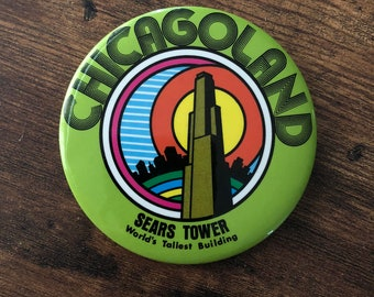 Vintage 1978 Sears Tower Pinback button