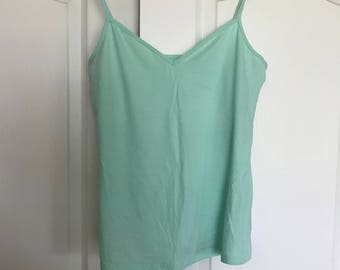 sea foam green tank top