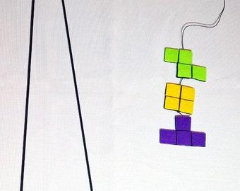 Tetris Cat Teaser Toy: Cat Wand, Retro Cat Toys, Cat Toy, Pet, Geek Kitty Toy, Video Game Pet Toy, Nintendo, Games, Geekery, Gamer Cat Gift