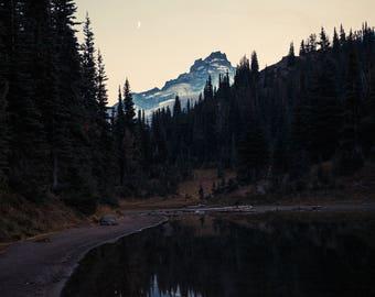 Moon over Shadow Lake