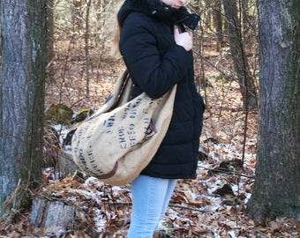 Burlap Bag / Burlap Handbag / Western Handbag / Shoulder Bag / Travel Bag