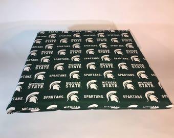 Michigan State Seat Cushion-Michigan State Spartans Stadium Seat-Bleacher Cushion-Stadium Cushion